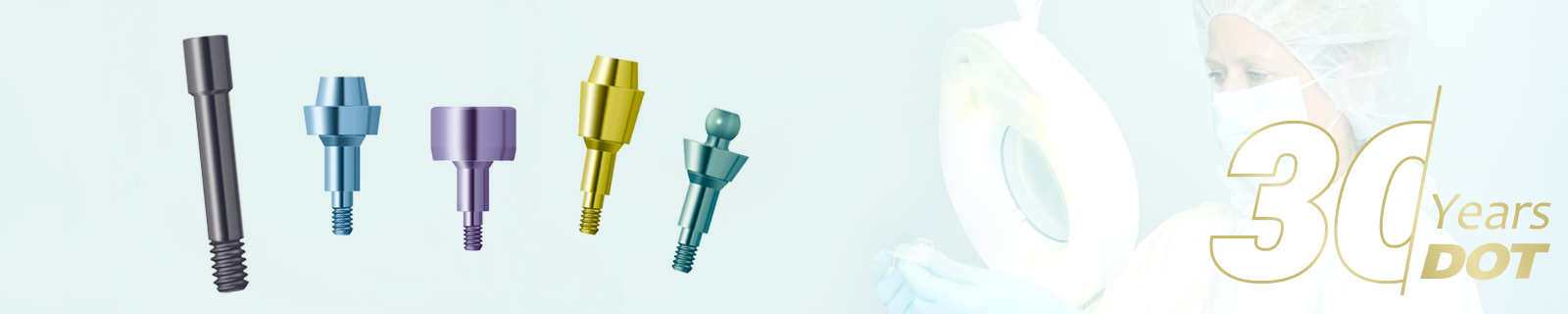 Anodising of dental components (Type II und III-Anodising) made by DOT GmbH